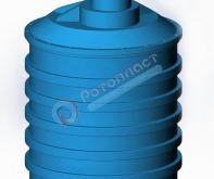 3000 л с удлиненной горловиной пластиковая цилиндрическая емкость