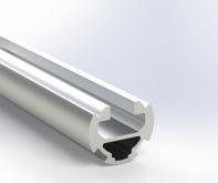 Алюминиевый трубный профиль D28 с пазом 10 анодированный