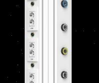 Настенная вертикальная медицинская консоль CS07
