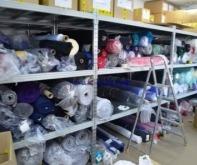 Стеллажи для хранения рулонов ткани на складе